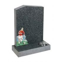RL559 - Dark Grey Granite, Lawn Memorial, Headstone