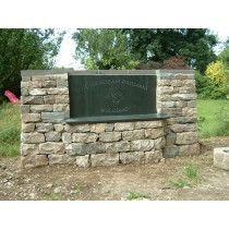 Large Slate Seat Name Plate designed to be part of the wall.