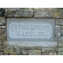 Limestone letters Proud, background removed Name Plate Mounted within the wall.