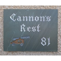 Hand carved Lakeland Slate